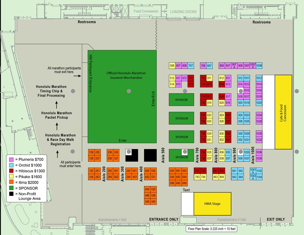 Honolulu Marathon Expo Floorplan